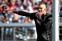 Lukasz Skorupski of Bologna FC reacts during the Serie A football match between Bologna FC and SS Lazio at Renato Dall'Ara stadium in Bologna (Italy), October 3rd, 2021. Photo Andrea Staccioli / Insidefoto