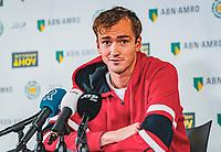 Rotterdam, The Netherlands, 9 Februari 2020, ABNAMRO World Tennis Tournament, Ahoy, Press conference Danill Medvedev (RUS)<br /> Photo: www.tennisimages.com