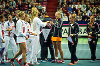 Moskou, Russia, Februari 4, 2016,  Fed Cup Russia-Netherlands,  Opening Ceremony<br /> Photo: Tennisimages/Henk Koster
