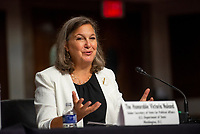 Victoria Nuland, Under Secretary of State for Political Affairs appears before a Senate Committee on Foreign Relations hearing to examine U.S. Policy on Turkey, in the Dirksen Senate Office Building in Washington, DC, Wednesday, July 21, 2021. Credit: Rod Lamkey / CNP /MediaPunch