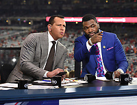 WASHINGTON DC - OCTOBER 25: Alex Rodriguez and David Ortiz at World Series Game 3: Houston Astros at Washington Nationals on Fox Sports at Nationals Park on October 25, 2019 in Washington, DC. (Photo by Frank Micelotta/Fox Sports/PictureGroup)