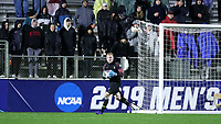 CARY, NC - DECEMBER 13: Andrew Thomas #1 of Stanford University holds the ball during a game between Stanford and Georgetown at Sahlen's Stadium at WakeMed Soccer Park on December 13, 2019 in Cary, North Carolina.
