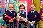 Ella McSweeney, Emily Dillane and Lola Griffin enjoying their first day at Killury NS in Causeway on Thursday.