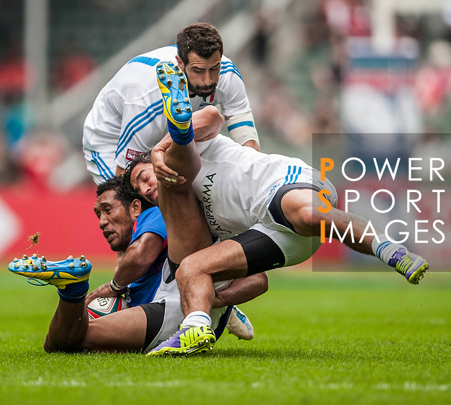 Italy vs American Samoa during the Cathay Pacific / HSBC Hong Kong Sevens at the Hong Kong Stadium on 28 March 2014 in Hong Kong, China. Photo by Juan Flor / Power Sport Images