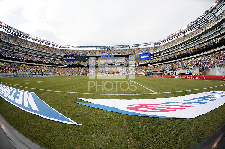 Overview of MetLife Stadium. The Argentina National Team defeated Brazil 4-3 at MetLife Stadium, Saturday July 9 , 2012.