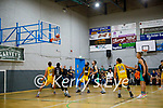 Daniel Jokubaitis of Garveys Tralee Warriors shoot from the free throw line against 360 Financial Killorglin in the basketball super league