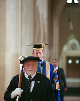 University Graduation Day.  H.R.H. Duke of Kent, University Chancellor..