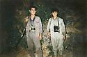 Iraq 1996.Haftanine: Two PKK fighters  Irak 1996   A Haftanine, deux combattants du PKK