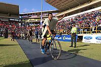 TUNJA - COLOMBIA, 11-02-2020: Equipo TEAM MEDELLIN durante la primera del Tour Colombia 2.1 2020 que se correrá en Boyacá, Colombia entre el 11 y 16 de febrero de 2020. / TEAM MEDELLIN during the launch of Tour Colombia 2.1 2020 that that will run between February 11 and 16, 2020 in Boyacá, Colombia.  Photo: VizzorImage / Darlin Bejarano / Cont