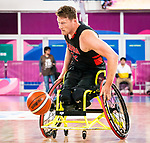 Patrick Anderson, Lima 2019 - Wheelchair Basketball // Basketball en fauteuil roulant.<br /> Canada takes on the USA in the gold medal game in men's wheelchair basketball // Le Canada affronte les États-Unis dans le match pour la médaille d'or en basketball en fauteuil roulant masculin. 31/08/2019.