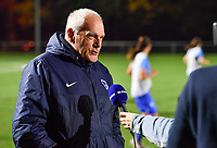 head coach Guido Brepoels of Racing Genk pictured during a pre match interview of female soccer game between  Racing Genk Ladies and White Star Woluwe on the seventh matchday of the 2020 - 2021 season of Belgian Scooore Womens Super League , friday 13 th of November 2020  in Genk , Belgium . PHOTO SPORTPIX.BE | SPP | DAVID CATRY