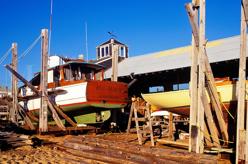 Drydocked boat repair, Matha's Vineyard