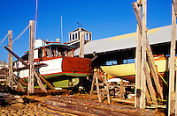 Drydocked boat repair, Matha's Vineyard