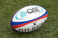 The QBE match ball during the QBE International between England and Fiji at Twickenham on Saturday 10th November 2012 (Photo by Rob Munro)