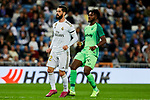 Francisco Alarcon 'Isco' of Real Madrid and Kenneth Josiah Omeruo of CD Leganes during La Liga match between Real Madrid and CD Leganes at Santiago Bernabeu Stadium in Madrid, Spain. October 30, 2019. (ALTERPHOTOS/A. Perez Meca)