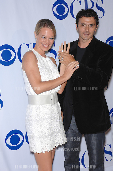 """Shark star Jeri Ryan & husband Christophe Eme at the CBS Summer Press Tour """"Stars Party 2007"""" on the Wadsworth Theatre Great Lawn..July 20, 2007  Los Angeles, CA.Picture: Paul Smith / Featureflash"""