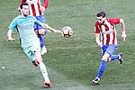 Atletico de Madrid's Yannick Ferreira Carrasco (r) and FC Barcelona's Sergio Busquets during La Liga match. February 26,2017. (ALTERPHOTOS/Acero)