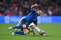 LONDON, ENGLAND - JULY 06: Leonardo Bonucci of Italy battles for the ball during the UEFA Euro 2020 Championship Semi-final match between Italy and Spain at Wembley Stadium on July 06, 2021 in London, England. (Photo by Shaun Botterill - UEFA/UEFA via Getty Images)<br /> Photo Uefa/Insidefoto ITA ONLY