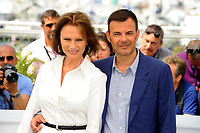 CANNES, FRANCE - MAY 26: Actress Jacqueline Bisset and Director Francois Ozon attend the 'Amant Double (L'Amant Double')' Photocall during the 70th annual Cannes Film Festival