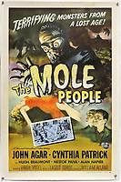 BNPS.co.uk (01202) 558833. <br /> Pic: Ewbank'sAuctions/BNPS<br /> <br /> Pictured: This poster for The Mole People sold for £750. <br /> <br /> A selection of classic horror and sci-fi film posters have sold for £85,000.<br /> <br /> The marquee lot was a British quad 30ins by 40ins poster for Forbidden Planet which fetched £12,000, three times its estimate.<br /> <br /> It features the memorable first image of Robby the Robot holding a damsel in distress.<br /> <br /> A poster promoting the Christopher Lee film Dr Terror's House of Horrors (1965) also outperformed expectations, selling for £2,750, while one advertising the first Star Wars film (1977) fetched £4,750.<br /> <br /> The posters, which were consigned by different collectors, sparked a bidding war with Ewbank's Auctions, of Woking, Surrey.