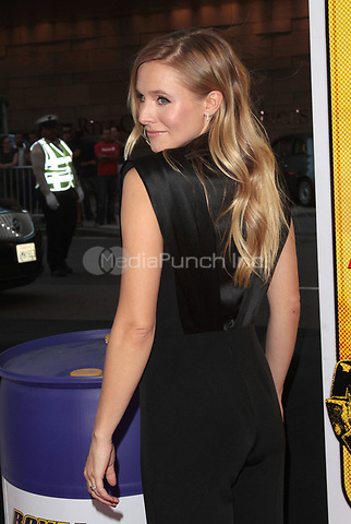 LOS ANGELES, CA - AUGUST 14: Kristen Bell arrives at the 'Hit & Run' Los Angeles Premiere on August 14, 2012 in Los Angeles, California MPI21 / Mediapunchinc
