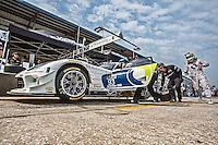 Pit stop practice, #33 Dodge Viper,  Ben Keating, Sebastiaan Bleekemolen, Jeroen Bleekemolen , 12 Hours of Sebring, Sebring International Raceway, Sebring, FL, March 2015.  (Photo by Brian Cleary/ www.bcpix.com )