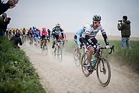 defending champion Peter SAGAN (SVN/BORA-Hansgrohe)<br /> <br /> 117th Paris-Roubaix 2019 (1.UWT)<br /> One day race from Compiègne to Roubaix (FRA/257km)<br /> <br /> ©kramon