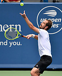 August 17,2019:   Richard Gasquet (FRA) loses to David Goffin (ESP) 6-3, 6-4, at the Western & Southern Open being played at Lindner Family Tennis Center in Mason, Ohio.  ©Leslie Billman/Tennisclix/CSM
