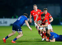 23th April 2021; RDS Arena, Dublin, Leinster, Ireland; Rainbow Cup Rugby, Leinster versus Munster; Damian de Allende of Munster is tackled