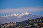 The snow capped Taurus Mountains during Stage 3 of the 2015 Presidential Tour of Turkey running 165.3km from Kemer to Elmali. 27th April 2015.<br /> Photo: Tour of Turkey/Steve Thomas/www.newsfile.ie