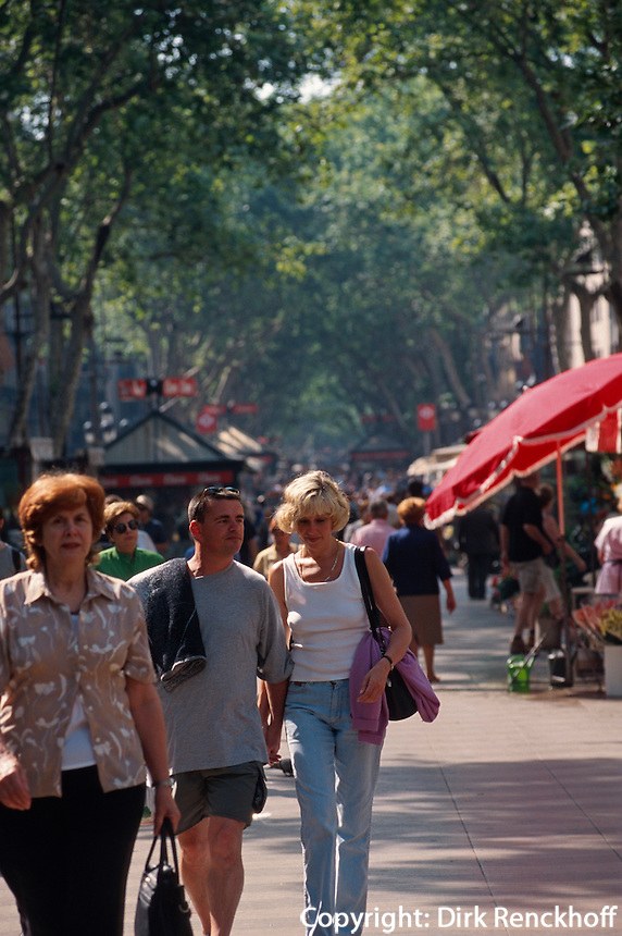 Spanien, Katalonien, Barcelona, auf den Ramblas.
