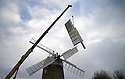 26/11/15<br /> <br /> The sails are removed from Britain's only working six-sailed stone windmill. <br /> <br /> Restoration work will continue over winter after wet rot was discovered in the beams supporting the sails at Heage Windmill, near Belper in Derbyshire.  <br /> <br /> As well as replacing the supporting beams that stretch as far as the mill's fantail, the sails will also be restored and painted.<br /> <br /> To date £22,000 has been raised towards an expected cost of £80,000. <br /> <br /> The windmill first ran in 1797 and continued to mill commercially until it was struck by lightning in 1919.<br /> <br /> It is expected to re-open by Easter 2016.<br /> <br /> All Rights Reserved: F Stop Press Ltd. +44(0)1335 418365   www.fstoppress.com.