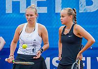 Amstelveen, Netherlands, 7 Juli, 2021, National Tennis Center, NTC, Amstelveen Womans Open, Doubles: Bente Spee (NED) and Anouk Koevermans (NED) (L)<br /> Photo: Henk Koster/tennisimages.com