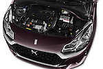 Car Stock 2016 Ds DS3 So-Chic 3 Door hatchback Engine  high angle detail view