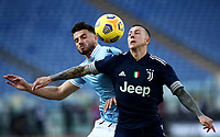Football, Serie A: S.S. Lazio - Juventus Olympic stadium, Rome, November 8, 2020. <br /> Juventus' Federico Bernardeschi (r) in action with Lazio's Wesley Hoedt (l) during the Italian Serie A football match between Lazio and Juventus at Olympic stadium in Rome, on November 8, 2020.<br /> UPDATE IMAGES PRESS/Isabella Bonotto
