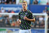 Jay Fulton of Swansea City during the pre-match warm-up for the Sky Bet Championship match between Swansea City and Nottingham Forest at the Liberty Stadium in Swansea, Wales, UK. Saturday 14 September 2019