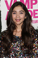 """LOS ANGELES, CA - FEBRUARY 04: Rowan Blanchard at the Los Angeles Premiere Of The Weinstein Company's """"Vampire Academy"""" held at Regal Cinemas L.A. Live on February 4, 2014 in Los Angeles, California. (Photo by Xavier Collin/Celebrity Monitor)"""