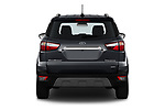 Straight rear view of a 2018 Ford Ecosport Titanium 5 Door SUV stock images