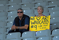 Fans watch the Farah Palmer Cup women's rugby union match between Auckland Storm and Waikato at Eden Park in Auckland, New Zealand on Sunday, 18 October 2020. Photo: Dave Lintott / lintottphoto.co.nz