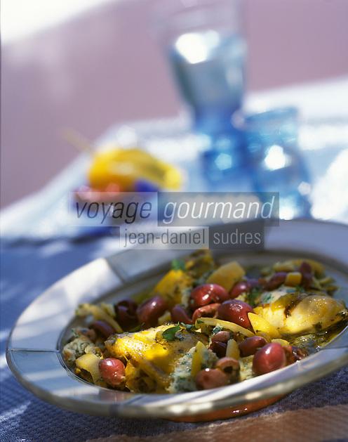 """Afrique/Maghreb/Maroc/Essaouira : Poulet souïri - Recette de Fatima-Zohra Lakrik cuisinère de la villa """"Maroc"""""""