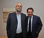 UMBERTO CROPPI E ALESSANDRO CASALI<br /> MOSTRA TULLIO PERICOLI     ARA PACIS ROMA 2010