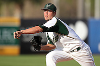 """University of South Florida Matt Reed #21 during a game vs. the Miami Hurricanes in the """"Florida Four"""" at George M. Steinbrenner Field in Tampa, Florida;  March 1, 2011.  USF defeated Miami 4-2.  Photo By Mike Janes/Four Seam Images"""