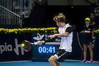 VALENCIA, SPAIN - OCTOBER 28: Andrey Rublev during Valencia Open Tennis 2015 on October 28, 2015 in Valencia , Spain