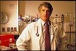 portrait of male doctor in hospital emergency room