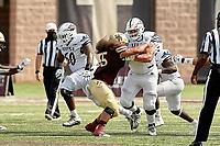 SAN MARCOS, TX - SEPTEMBER 12, 2020: The University of Texas at San Antonio Roadrunners defeat the Texas State University Bobcats 51-48 in double overtime at Bobcat Stadium (Photo by Jeff Huehn).