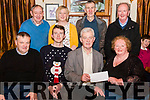 Beaufort Drama Group presenting a cheque for €3500 to Beaufort Community Council at the Beaufort Bar and Restaurant last Thursday night. Pictured are front l-r Matthew Brosnan (Beaufort Community Council), David O'Shea (Beaufort Drama Group), Padraig O'Sullivan (Beaufort Community Council), Margaret O'Shea (Beaufort Drama Group), back l-r Noel O'Sullivan, Lorraine O'Shea, Ian Joy and Neil O'Sullivan (all from Beaufort Drama Group).
