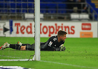 28th September 2021; Cardiff City Stadium, Cardiff, Wales;  EFL Championship football, Cardiff versus West Bromwich Albion; Dillon Phillips of Cardiff City looks dejected after conceding the 3rd goal to go down 0-3 in the second half