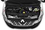 Car stock 2019 Renault Master Base 4 Door Cargo Van engine high angle detail view