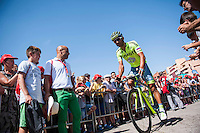 Castellon, SPAIN - SEPTEMBER 7: Tinkoff biker  during LA Vuelta 2016 on September 7, 2016 in Castellon, Spain