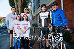 Cyclists Ray Moriarty and Joe Moriarty are raising money for Inspired charity in Tralee by cycling 500 kilometres in Spain, also in photo from left are Paddy Tansley, Rachel O'Conor Eoin O'Sullivan and Sarah Fitzmartin.